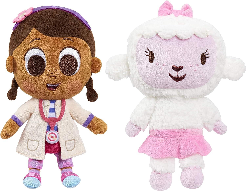 Disney Junior Music Lullabies 9-Inch Doc McStuffins & Lambie 2-Piece Plush Set, Amazon Exclusive