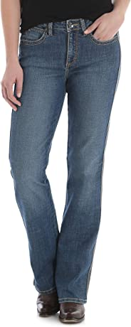 Wrangler Womens Aura Instantly Slimming Mid Rise Boot Cut Jean