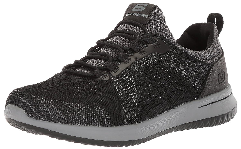 Skechers Men's Relaxed Fit-Delson-Brewton Sneaker B0757FZ7FQ 14 D(M) US|Black