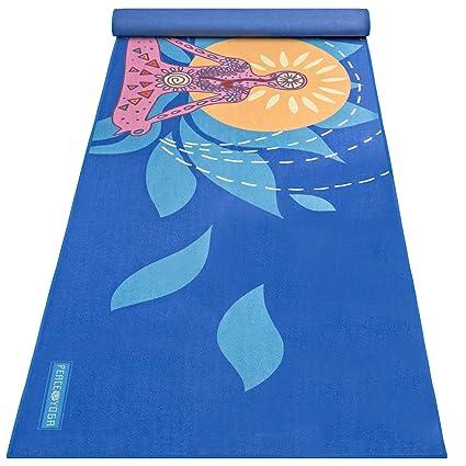 Amazon.com : Peace Yoga 100% Microfiber Hot Yoga Mat Towel ...