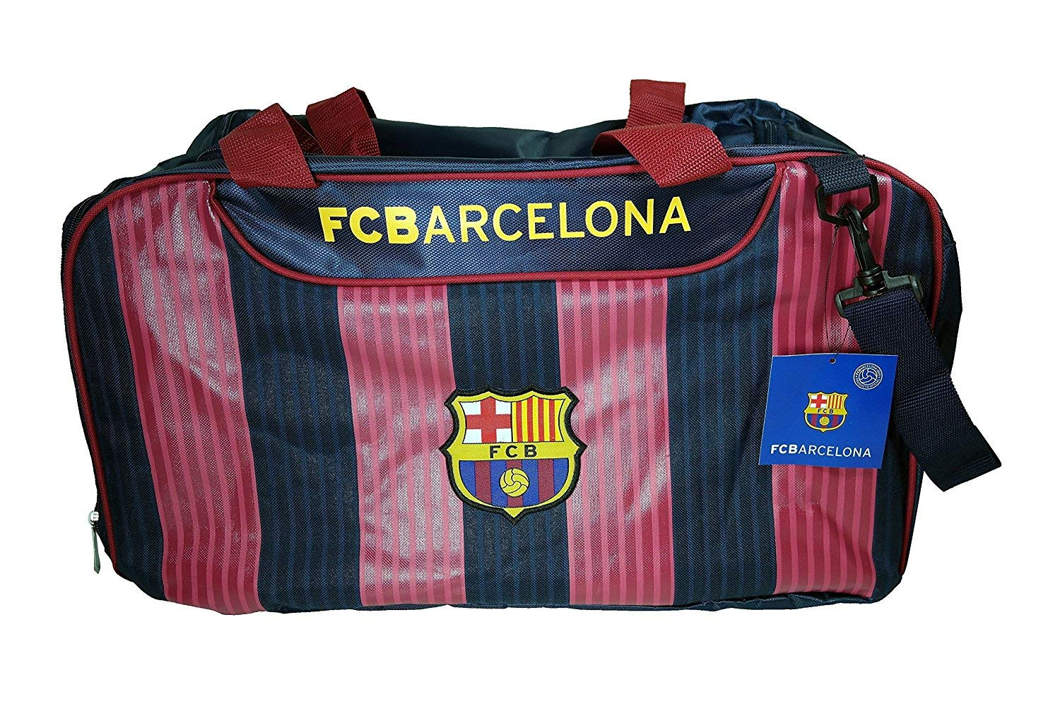 Amazon.com : FCB Barcelona Duffle Bag, Barcelona Ball Size 5 and One Messi Water Bottle : Sports & Outdoors