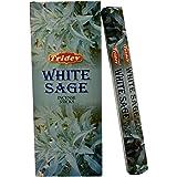 Tridev White Sage Fragrance Incense Sticks Agarbatti 120 Grams Box | 6 Hex Packs of 20 Grams in a Box | Export Quality