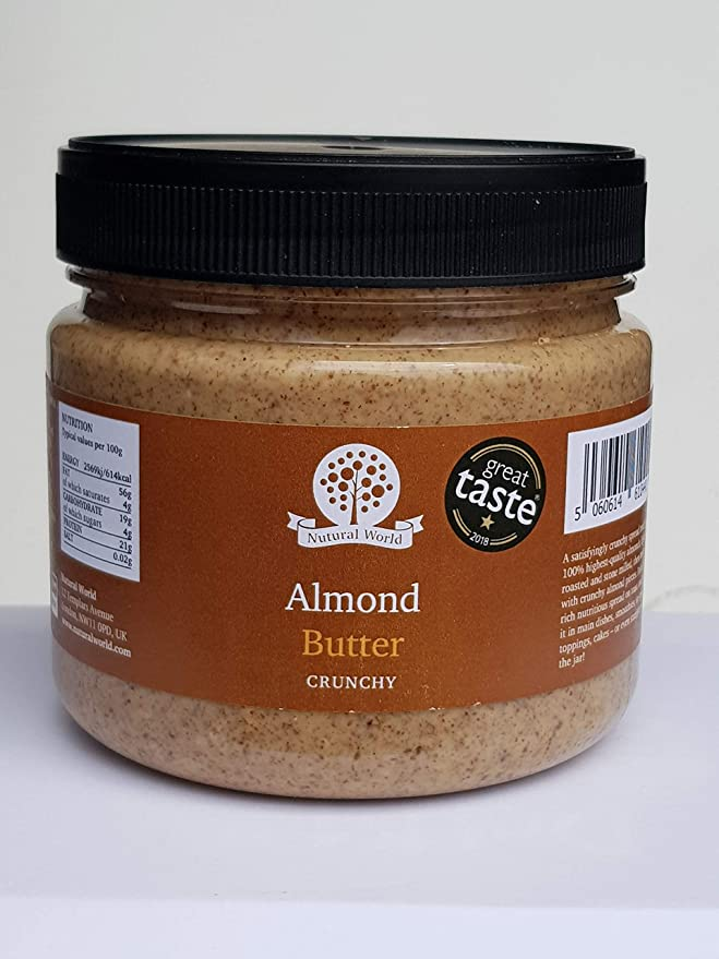 Nutural World - Mantequilla de almendra crujiente (1kg ...