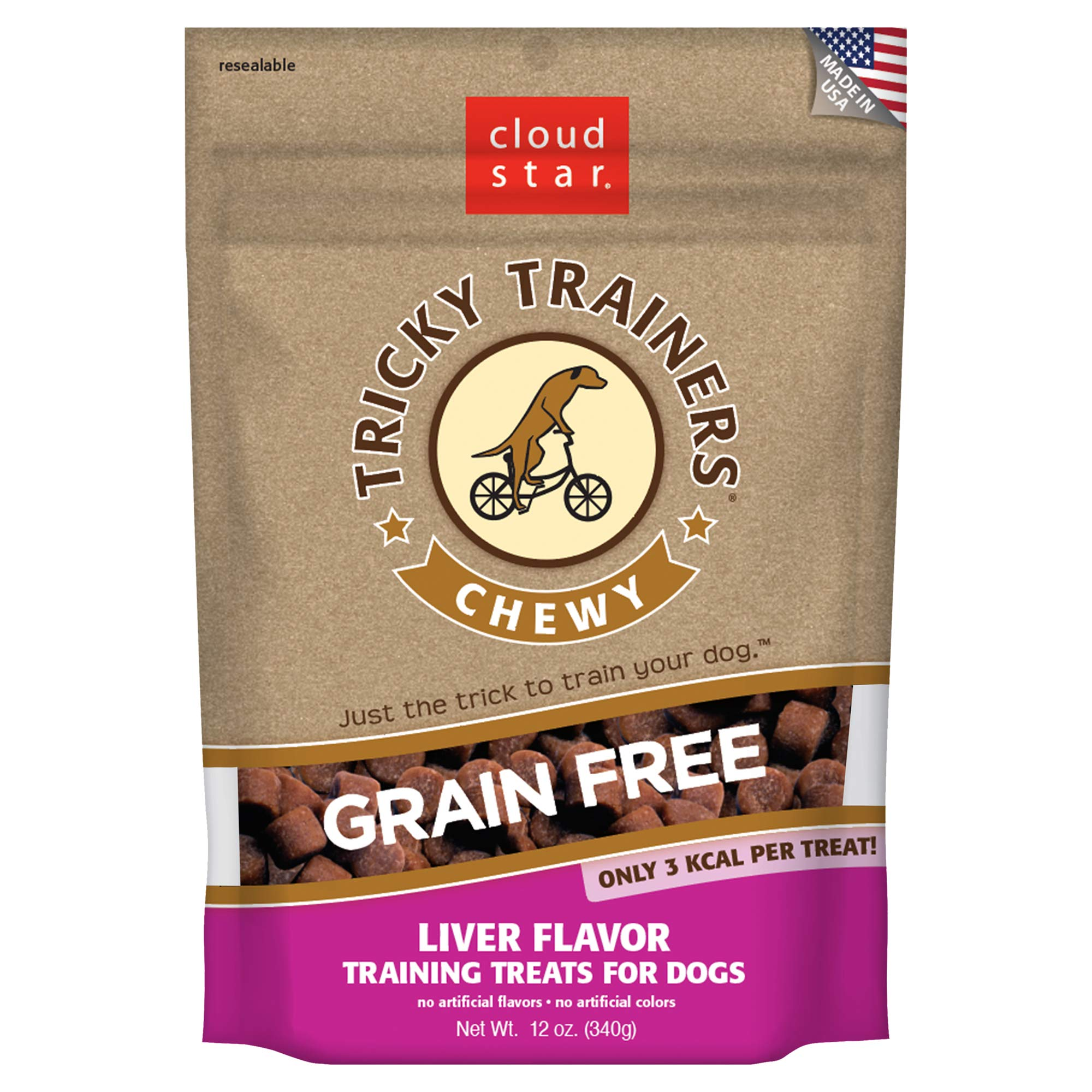 Cloud Star Tricky Trainers Chewy Grain Free Liver - 12 oz by Cloud Star
