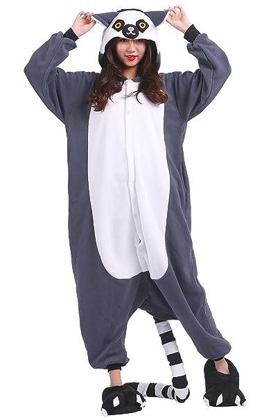 AKAAYUKO Unisex Adulto Fleece Onesies Kigurumi Hoodie Pijamas Cosplay Loungewear Tamaño S
