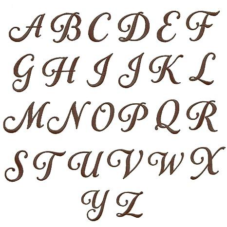 Auténtico Hotel y Spa 2 piezas blanco turco algodón Toallas de mano con marrón Script Inicial N Con El monograma: Amazon.es: Hogar