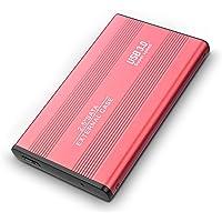 AUPEL Disco Duro Externo USB 3.0 Disco Duro Externo para Mac, PC, PS4,MacBook, Chromebook, Xbox (2tb, Rojo)