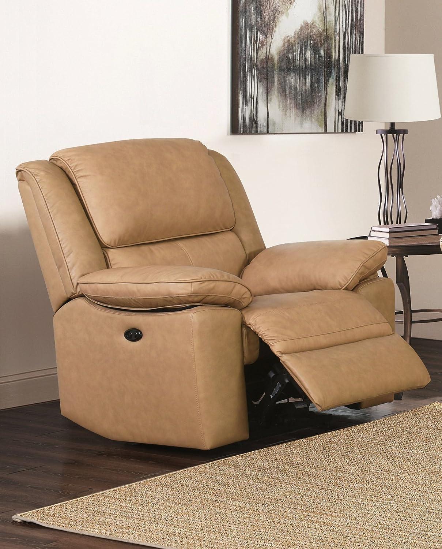 SC Furniture Ltd Beige Cuero de Calidad Superior eléctrico ...