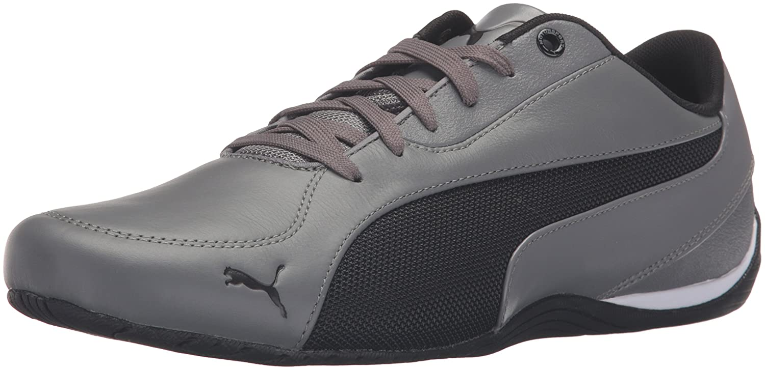 d1b4ad357dc PUMA Men s Drift Cat 5 Leather Steel Gray Puma Black Athletic Shoe  Buy  Online at Low Prices in India - Amazon.in