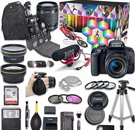 Amazon.com: Canon EOS Rebel t7i Kit de video Creator Deluxe ...