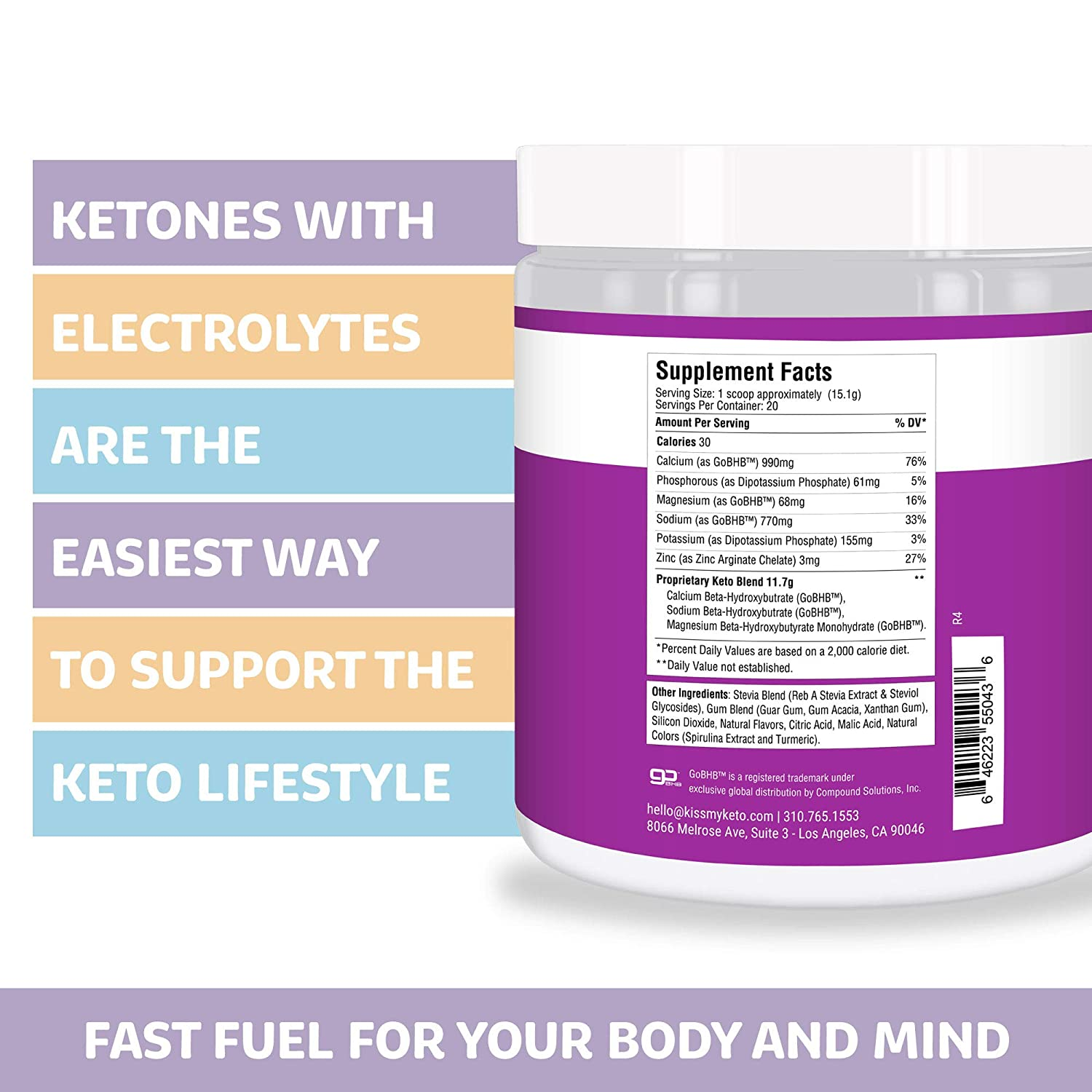 supplement facts of exogenous ketones