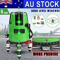 Generic ser Le Rotary Cross Hard Case Auto 3 360 Rotating Otary 5Line Green Self Level Auto 3 Leveling Laser ine Green Level Auto en Self Lev