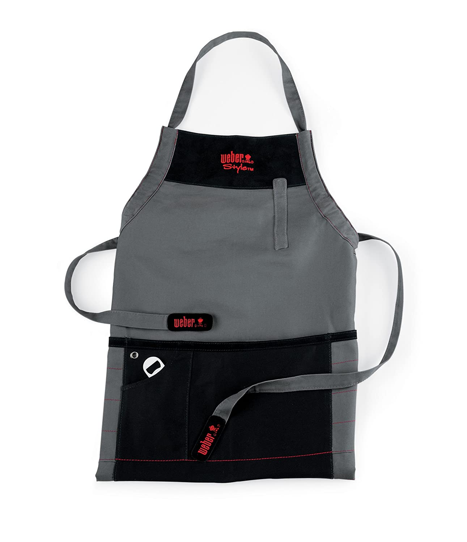 Black apron - Amazon Com Weber Style 6452 Barbecue Apron Kitchen Aprons Patio Lawn Garden