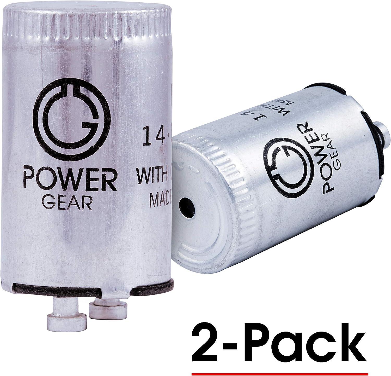 Power Gear Fluorescent Starter, FS-2, Standard ( 2-pin ), 2-Pack, 54388