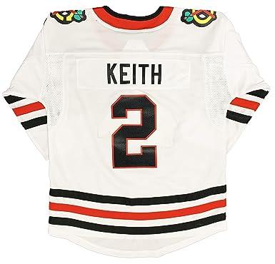 online store fb189 69856 Amazon.com: Duncan Keith Chicago Blackhawks #2 White Youth ...