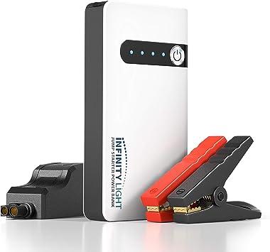 Safety Use Jump Starter Auto Car Battery Charger Mini Power Bank LED Light 12V