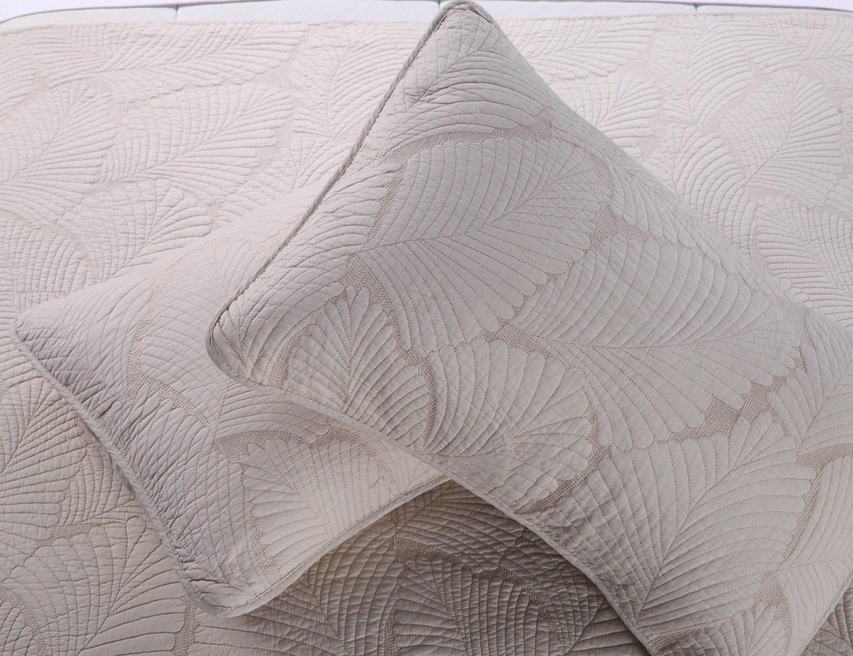 Unimall Tagesdecke Baumwolle Bettüberwurf Set Natur Pflanzen Muster ...