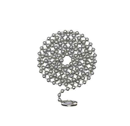 50 feet 304 STAINLESS STEEL BALL CHAIN  2.4mm bead #3 plus 50 connectors 50/'