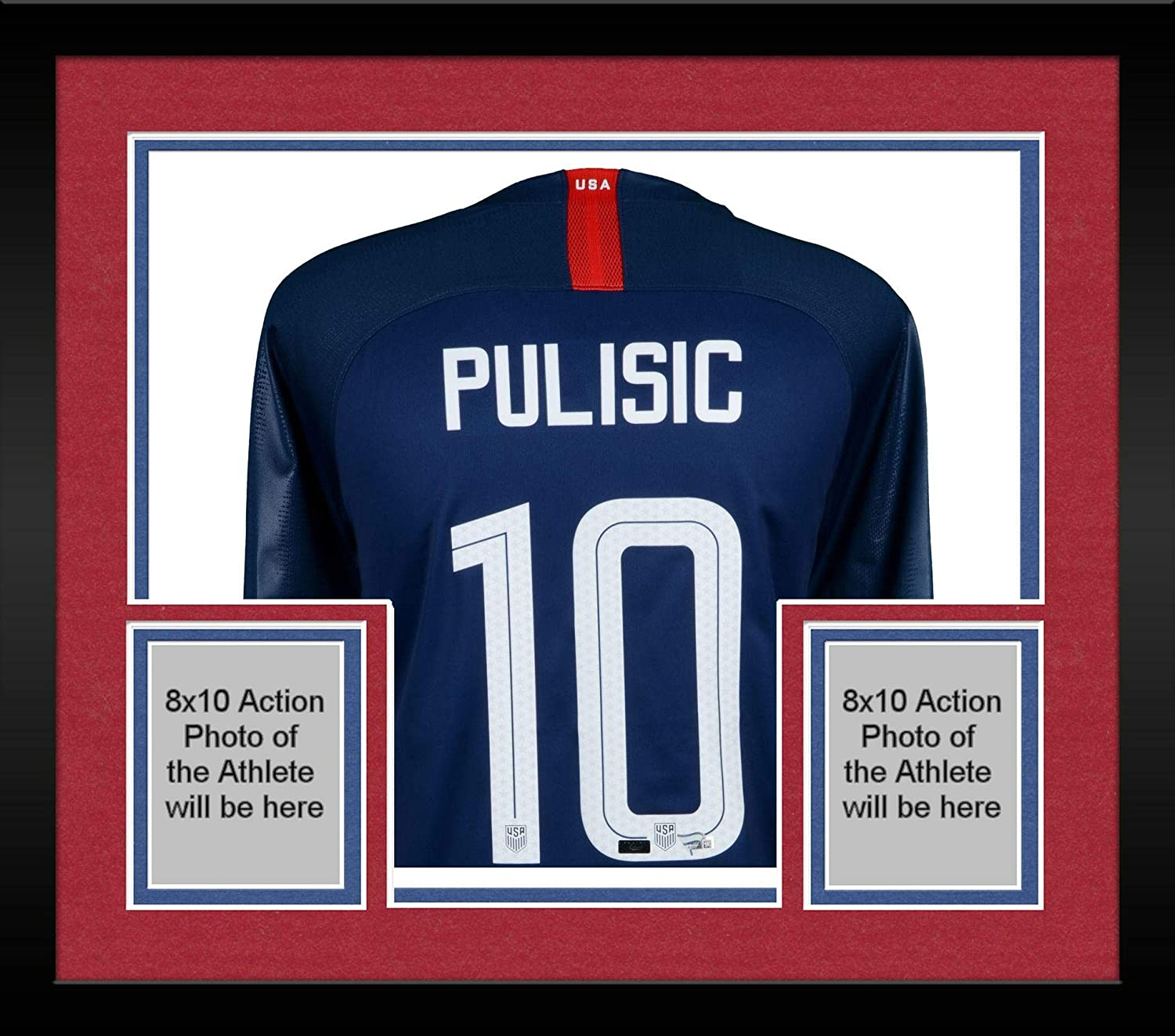 new concept 120c4 25599 Framed Christian Pulisic USA Autographed 2018 Nike Blue ...