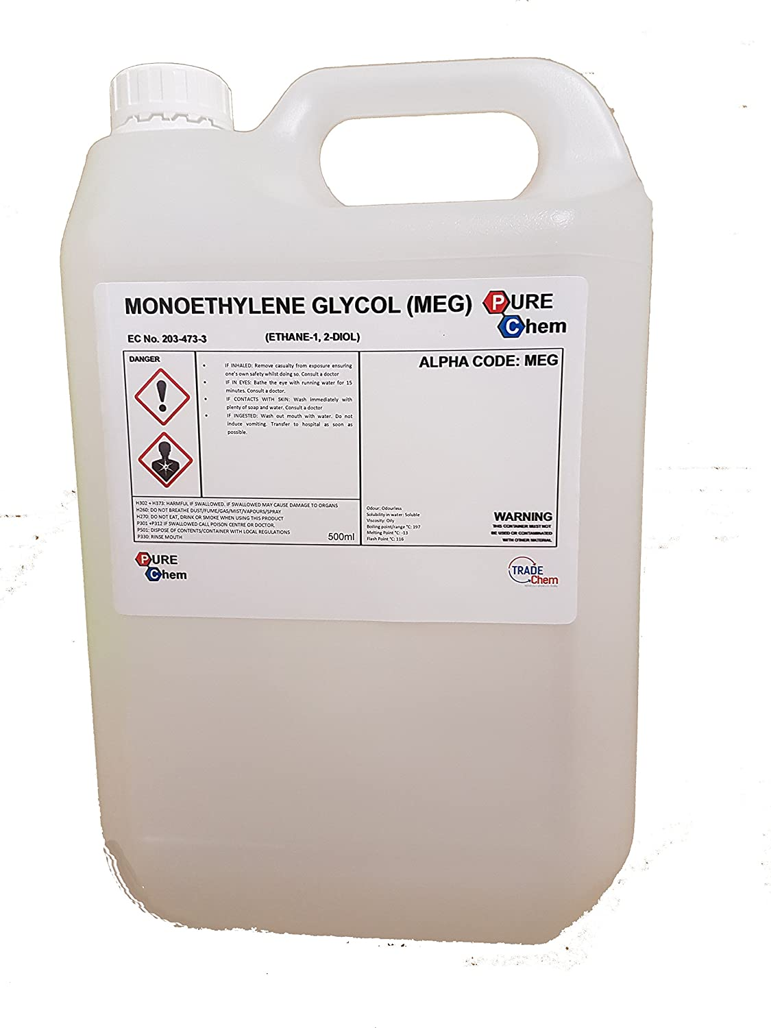 MEG MONOETHYLENE GLYCOL 5 L Litre - PureChem: Amazon co uk