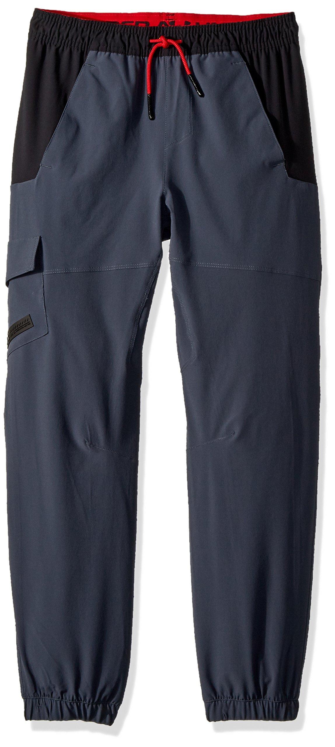 Under Armour Boys' X Level Cargo Pants, Stealth Gray (008)/Black, Youth Medium