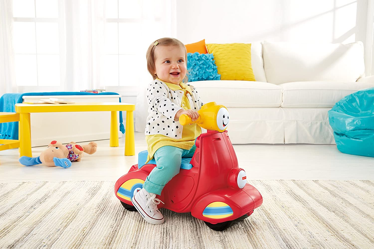 Fisher Price Laugh Learn Smart Stages Scooter Amazoncouk Toys Games