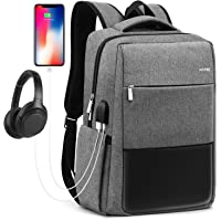HOMIEE Large School Laptop Backpack with USB Charging Port