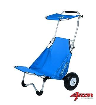 ASCAN playa Buggy con amplia ruedas y asiento y parasol & Carga de asiento Ampliación-