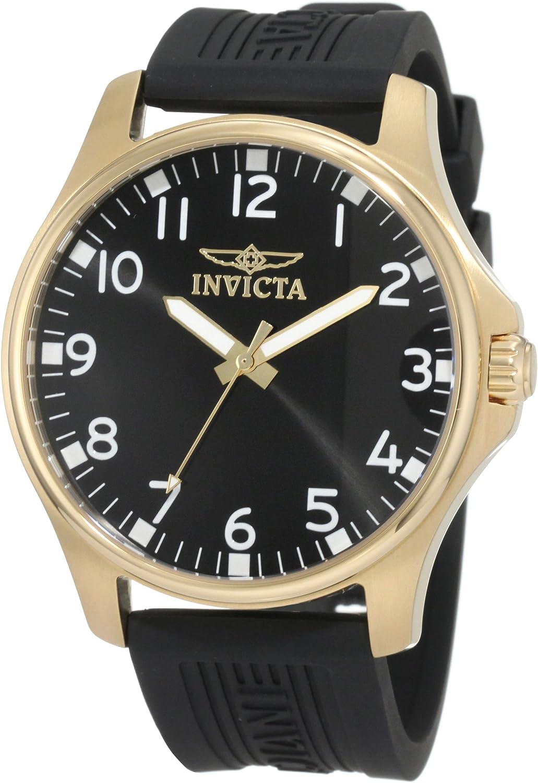 Invicta Men s 11398 Specialty Black Dial Black Polyurethane Watch