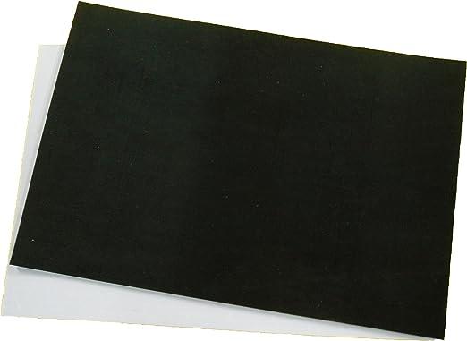 NR//SBR viele Gr/ö/ßen w/ählbar 65 Shore einseitige Klebeschicht Klebeband Gummimatte Gummiunterlage Gummistreifen selbstklebend St/ärke 3 mm