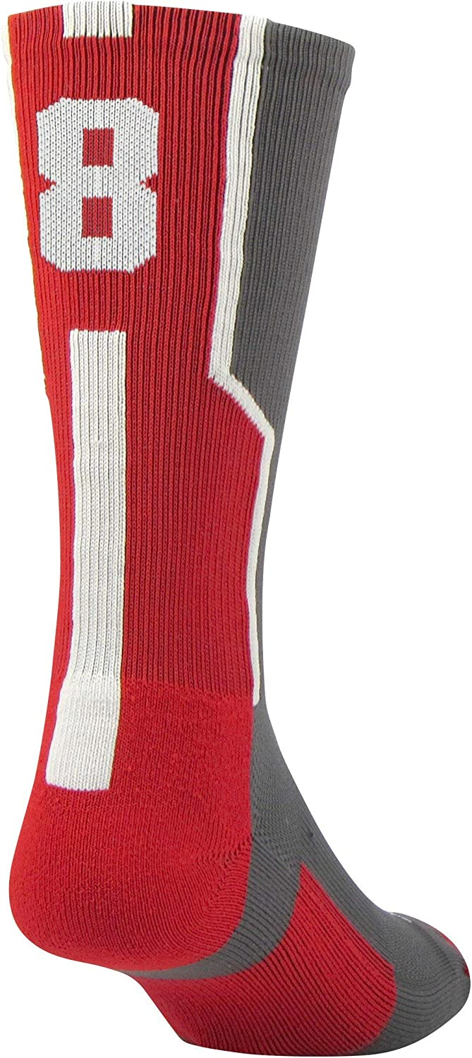 Twin City Player ID Sock Single Sock Graphite//Scarlet//White Large