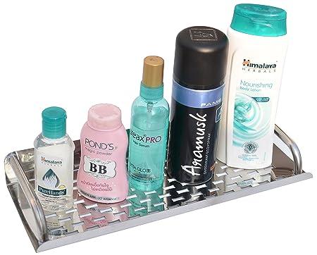 Impulse Stainless Steel Multi Purpose Bathroom Shelf \ Kitchen Rack  12 Inches  Bathroom Shelves