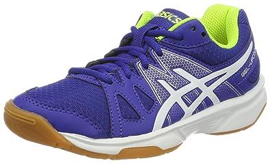 47f86e898d ASICS Boys' Gel-Upcourt Gs Badminton Shoes, Multicolour (Blue/White ...