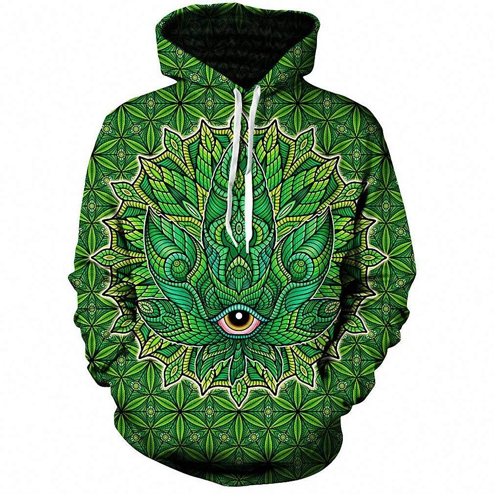 Emlyn Adrian Psychedelic Weed 3D Hoodie Hoodies Men Women Long Sleeve Sweatshirt Hooded
