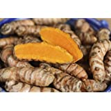 (1LB) Turmeric Root (Curcumin) - Whole Raw Organic Root - Grown By Bhanu Indian Grocery in California | Free Shipping USA| (1 LB)