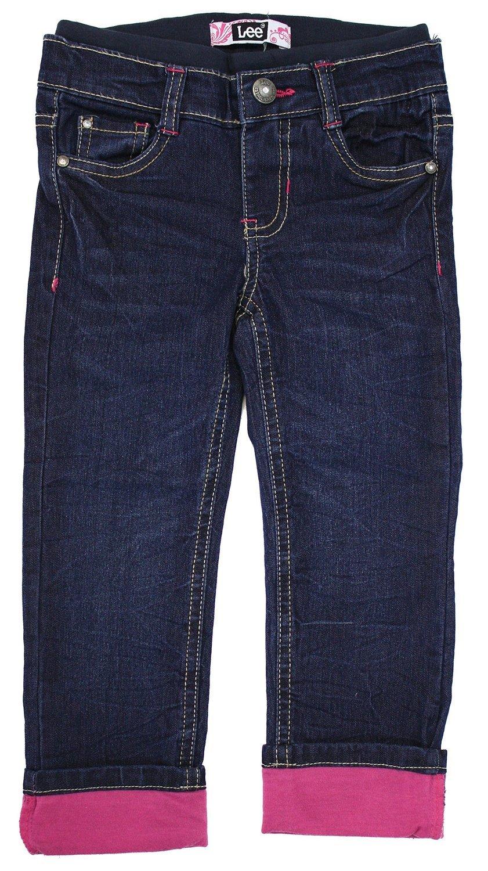 Lee Dungarees Girls' Straight Leg Pants (18 Months, Denim)