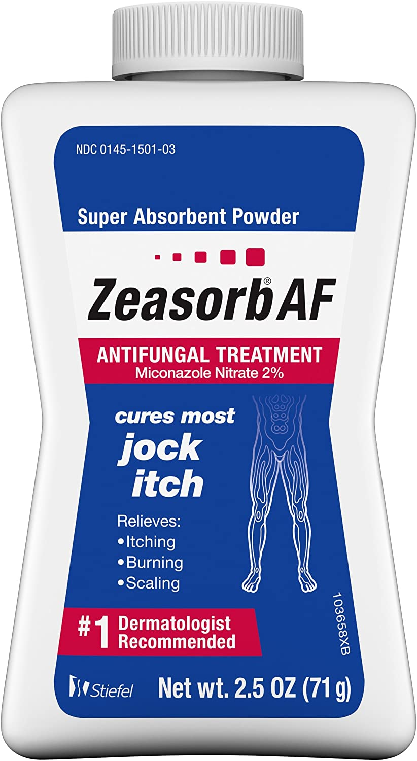 Zeasorb Super Absorbent Antifungal Treatment Powder for Jock Itch 2.5 oz: Health & Personal Care