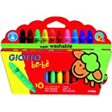 Giotto Bebè  466800 - Superpastelloni a Cera Astuccio 10 Colori