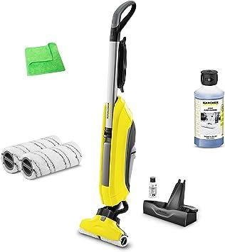 Kärcher limpiador de suelos FC 5 1.055 – 500,0 Incluye limpiador y suelo Cuidado piedra 0,5 litros 6.295 – 943.0 & Gris Escobilla de recambio 2.055 – 007.0 & profesional paño de microfibra: Amazon.es: Bricolaje y herramientas