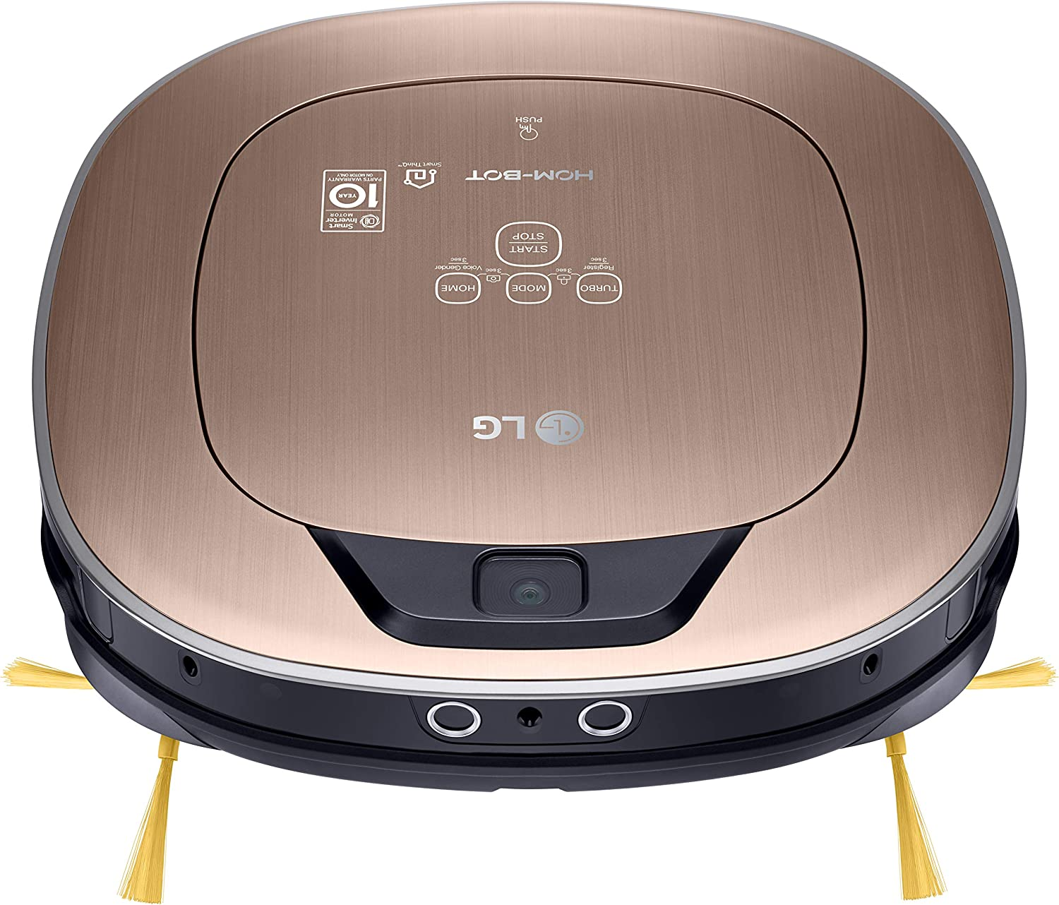 LG HOM-BOT Wi-Fi Enabled Robotic Vacuum, Dual Eye Camera Mapping System, for Carpets, Hardwood and Tile, CR5765GD, Metallic Gold