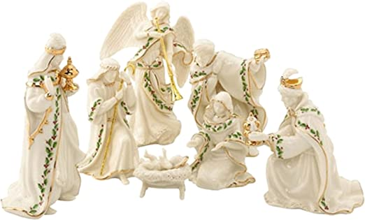 Lenox Innocence Nativity 6 Piece Figurine Set Holy Family Lamb Angel Shepherd Boy Sareg Com