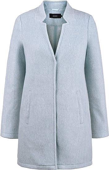 VERO MODA Mania damski płaszcz wełniany kurtka przejściowa płaszcz kurtka z kołnierzem: Odzież