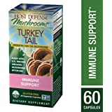 Host Defense - Turkey Tails Mushroom Capsules, Naturally Supports Immune Response, Healthy Digestion, and Hormone Balance, Non-GMO, Vegan, Organic, 60 Count
