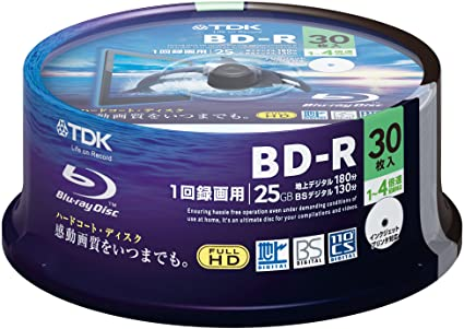 graphic about Printable Blu Ray Discs referred to as TDK Blu-ray Disc 30 Spindle - 25GB 4X BD-R - Printable