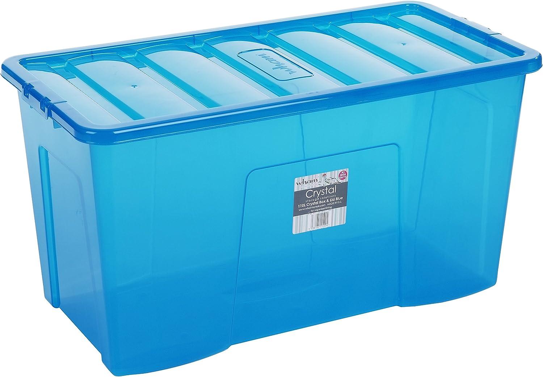 Wham Box 110 litros tamaño Extra Grande Caja de plástico (80 x 40 x 43 cm): Amazon.es: Hogar
