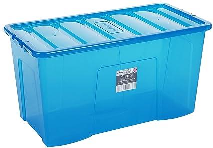 Wham Box 110 litros tamaño Extra Grande Caja de plástico (80 x 40 x 43