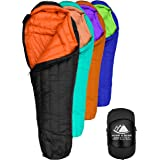 Hyke & Byke Eolus 0 Degree F 800 Fill Power Hydrophobic Goose Down Sleeping Bag with ClusterLoft Base - Ultra…