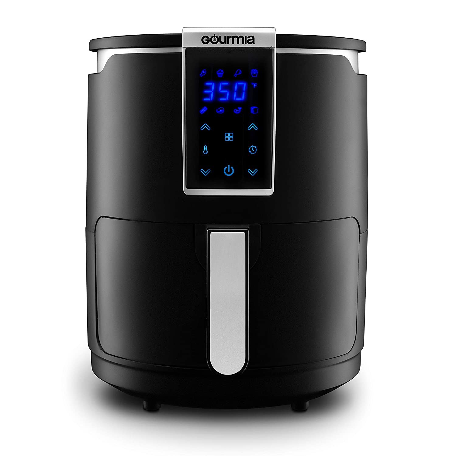 Gourmia GAF265 Digital Air Fryer | Oil-Free Healthy Cooking | 4-Quart Capacity | 8 Cook Modes | Removable, Dishwasher-Safe Tray | Free Recipe Book Included