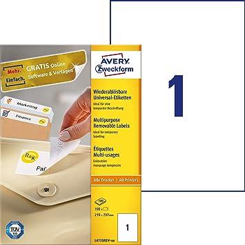 Avery Zweckform L4730REV-25 Universal Labels 10 Blatt