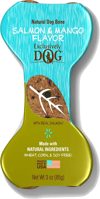 Exclusively Dog Pet Salmon & Mango Flavor Dog Bone, 3 oz, All Breeds & Sizes (39100)